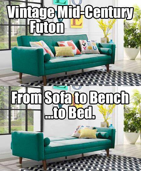 3 Vintage Futon Sofa Beds $350-$450