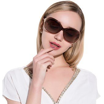 Anti UV gafas de sol polarizadas moda Policarbonato Sunglasses-color de té