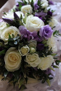 Rose and Lisianthus Wedding Bouquets