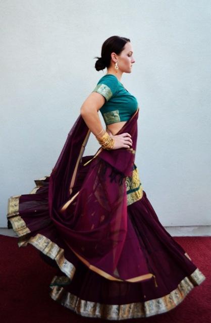 Burgundy in Cotton Gopi Skirt | Gopi Skirt Outfits