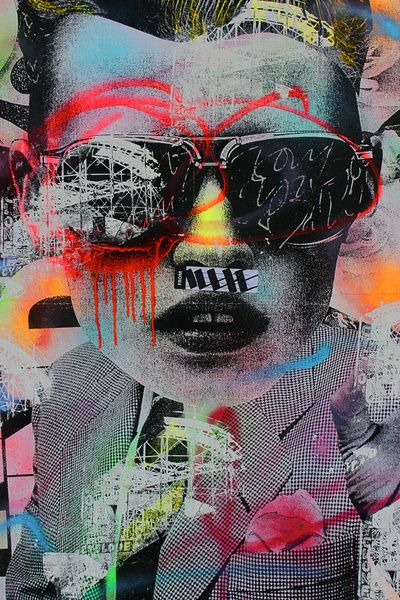 Graffiti Wall NYC Art Print