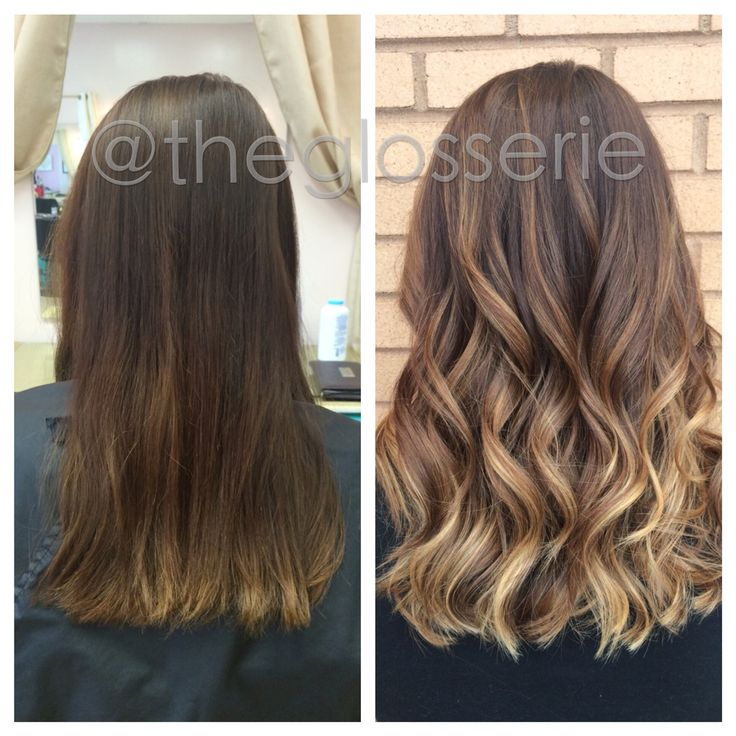 Balayage before and after by Brittany