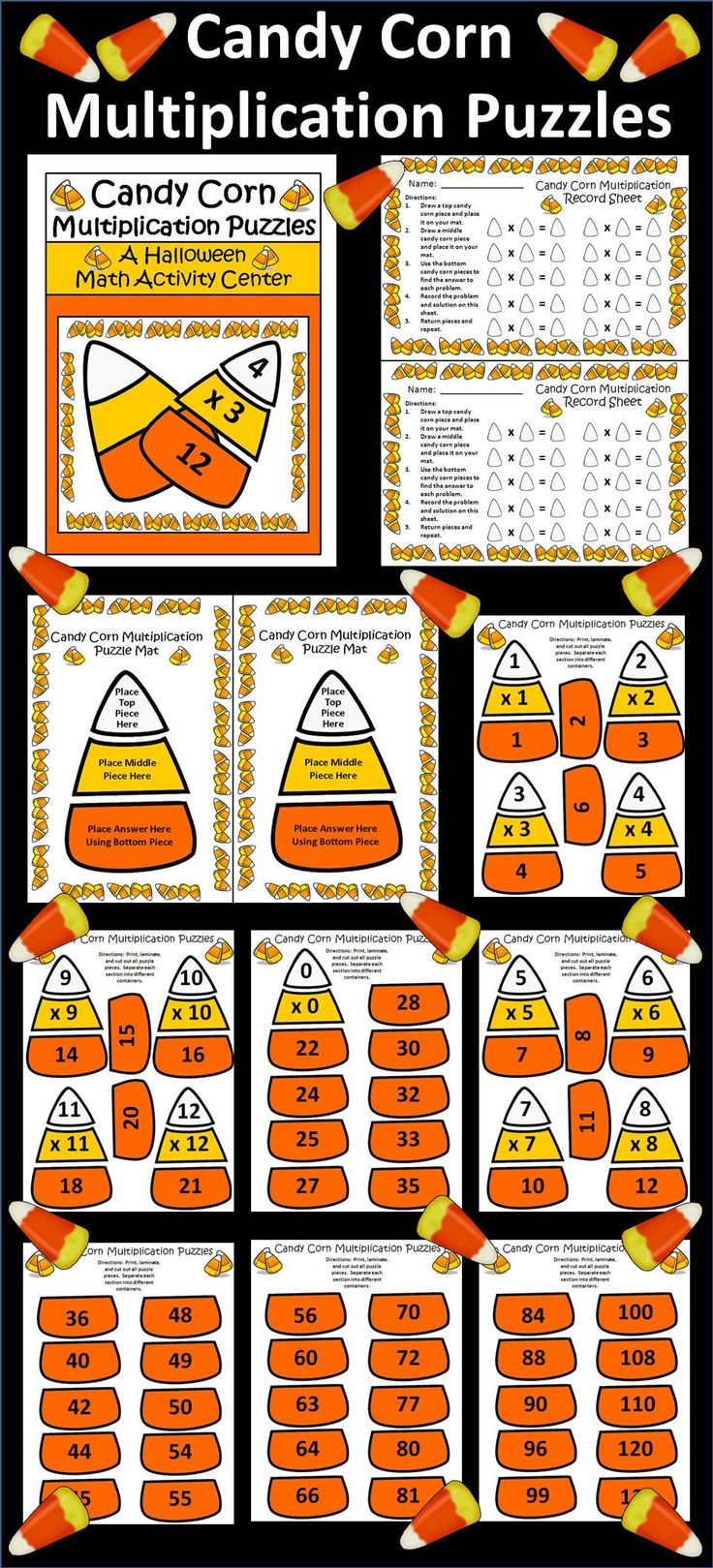 Uncategorized Candy Corn Math Worksheets 31 best images about candy corn contest book activities on pinterest halloween multiplication puzzles math activity