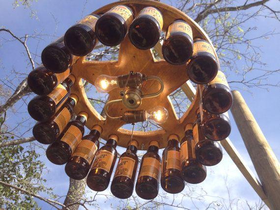 """Über 1.000 ideen zu """"beer bottle chandelier auf pinterest ..."""