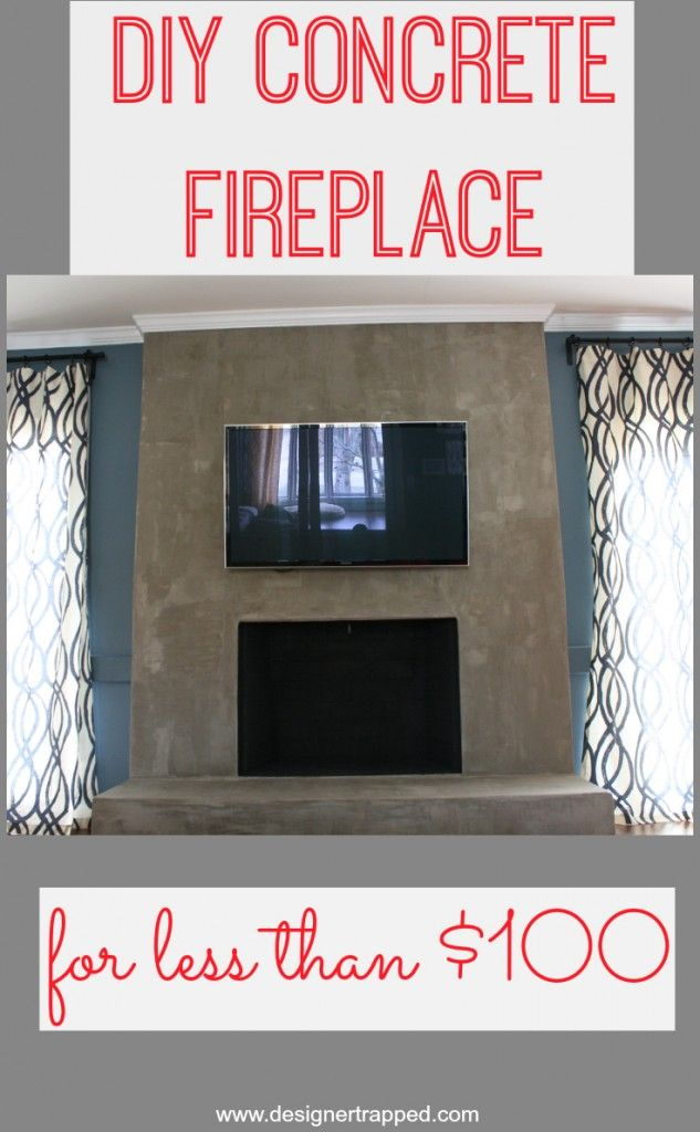 DIY Concrete Fireplace tutorial using Ardex Feather Finish by Designer Trapped in a Lawyer's Body {www.designertrapped.com}