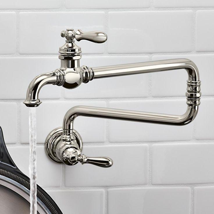 KOHLER 99270 CP Artifacts Single Hole Wall Mount Pot Filler Kitchen Sink  Faucet