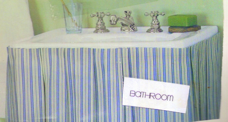 Striped Bathroom Sink Skirt Bath Room Sets Retired