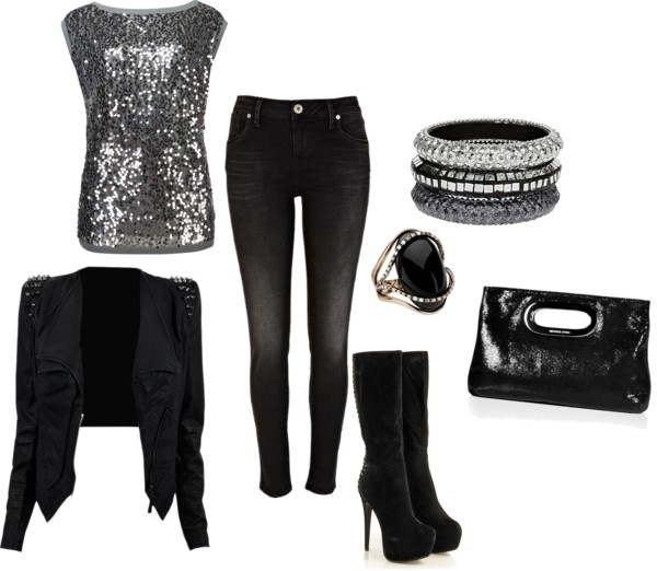 """Black and Grey"" by elainel472 on Polyvore"