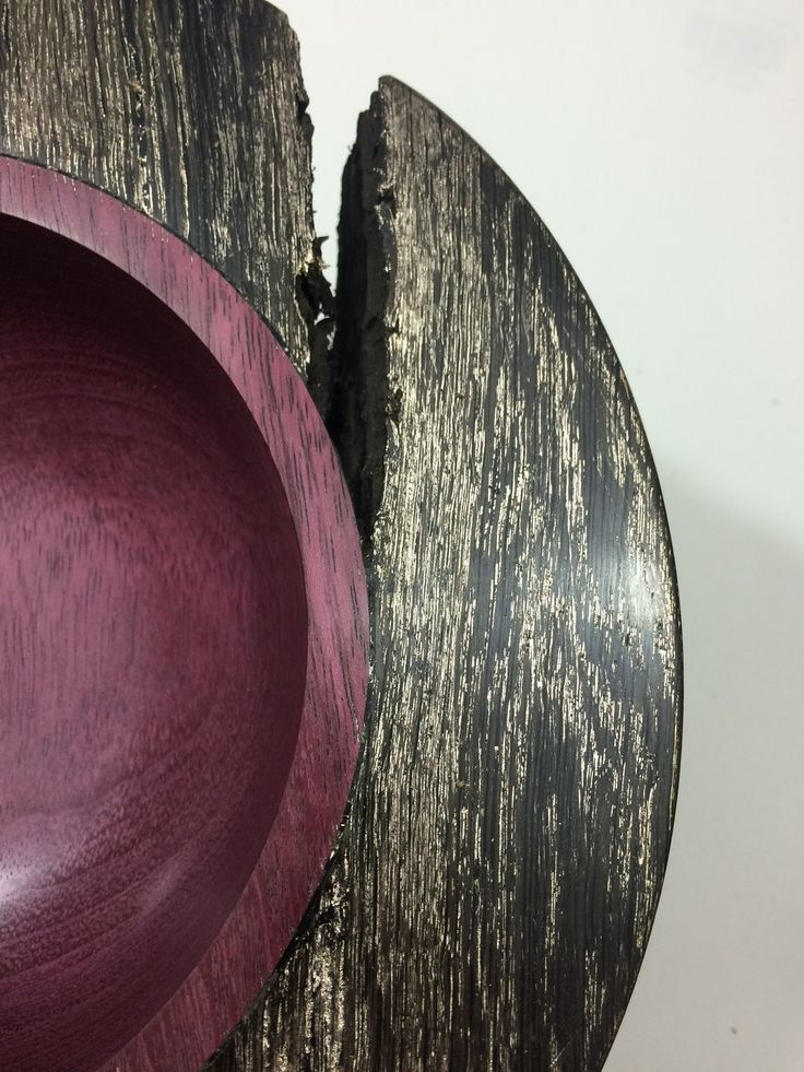 By Moth and Mirror, Purple Heart and Bog Oak With Champagne Gold, Detail