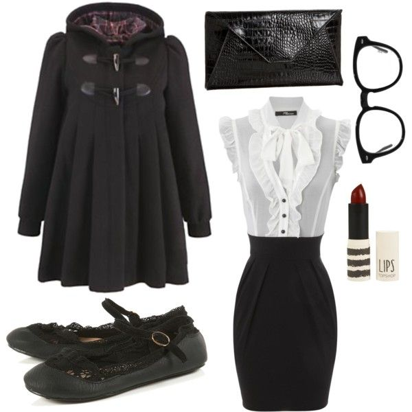 NerdSecretary by kikajit on Polyvore featuring Jane Norman, Zara Terez, Oliver Peoples and Topshop