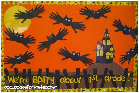 A Cupcake for the Teacher - Batty Halloween Bulletin Board