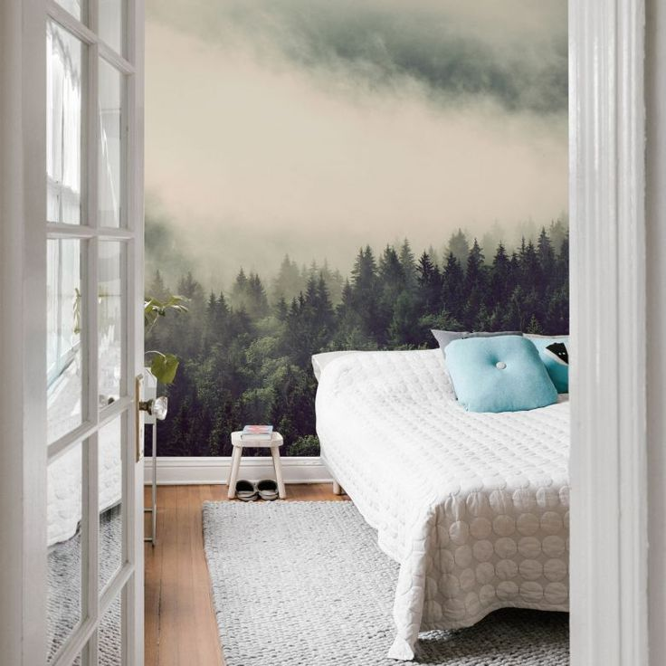 Fototapete Nebel im Wald 02 – 192×260 cm