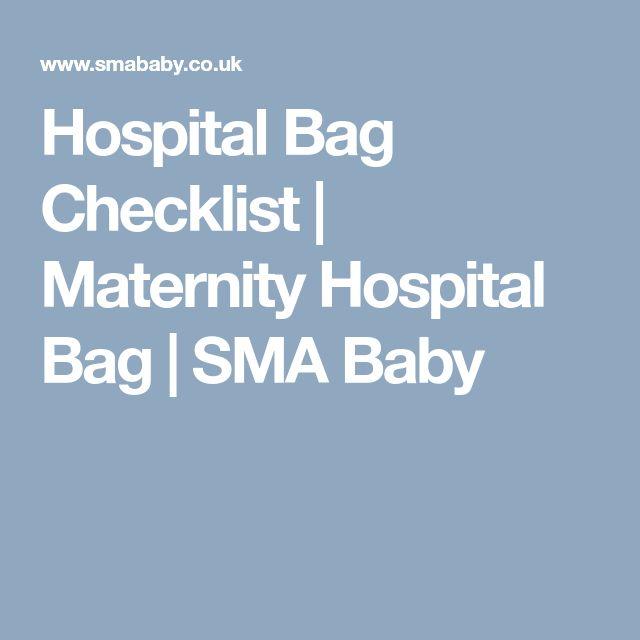 Hospital Bag Checklist | Maternity Hospital Bag | SMA Baby