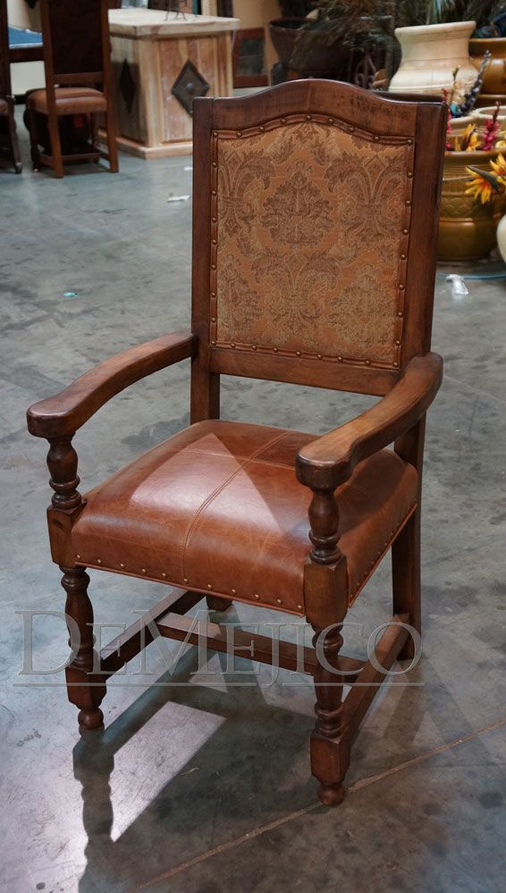 custom spanish style furniture. This Classic Spanish Style Design Chair Is Made From Solid Mesquite And Shown With A Custom Furniture T