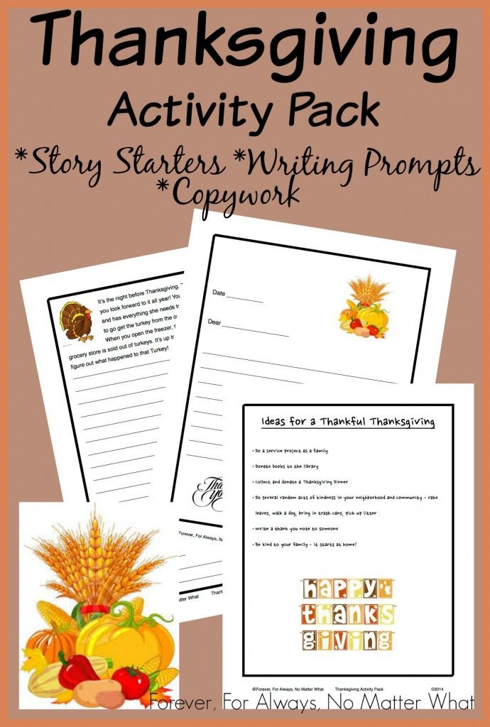 Hieroglyphic writing activity for thanksgiving