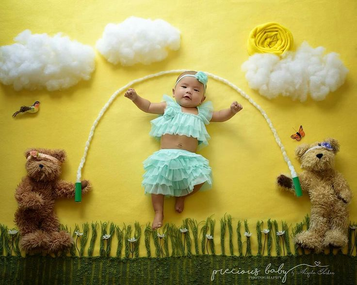 3 month old jump rope jumping Baby ImaginArt Angela Forker Precious Baby Photography bears scene www.preciousbabyphotography.com