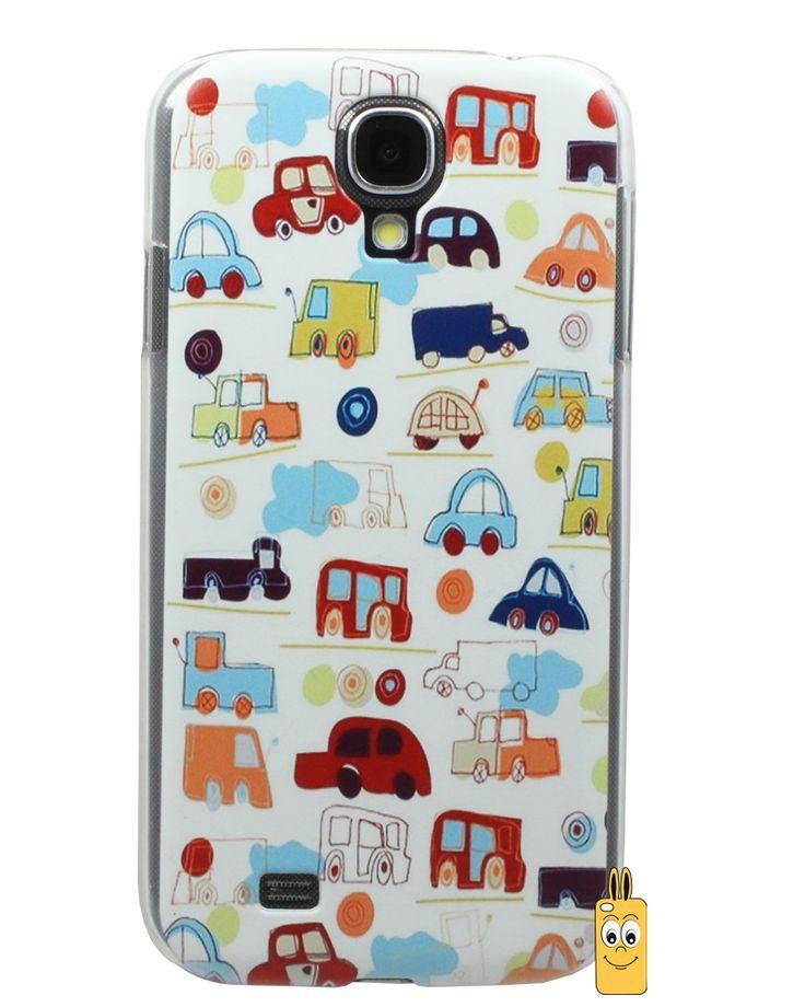 Samsung Galaxy S4 Arabalar Desenli Kılıf