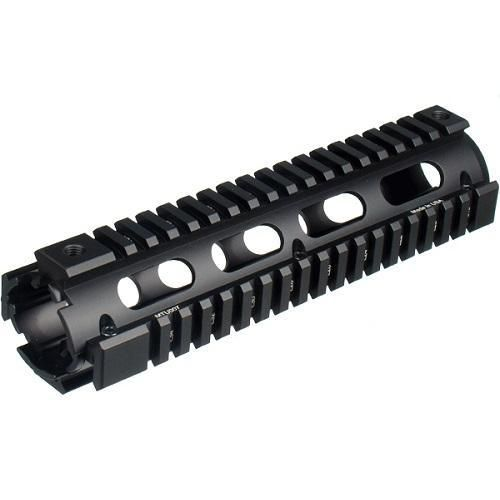 UTG PRO Model 4/AR15 Mid Length Drop-in Quad Rail-Black
