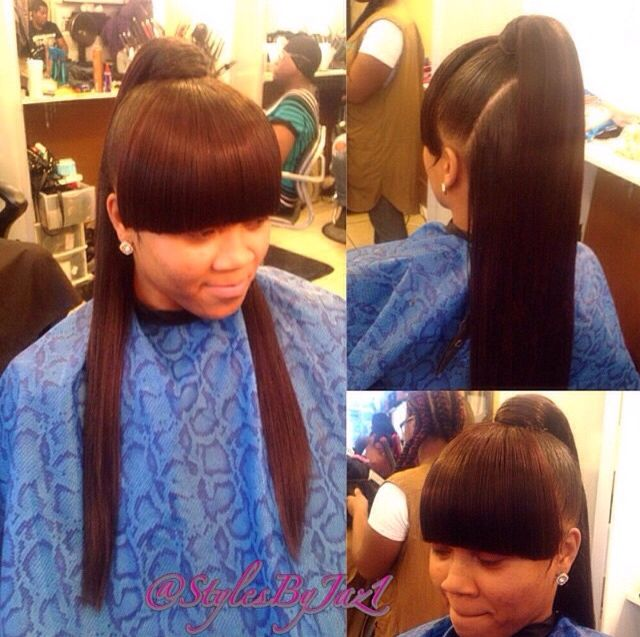 Awe Inspiring 17 Best Ideas About Sew In With Bangs On Pinterest Chinese Bangs Short Hairstyles Gunalazisus