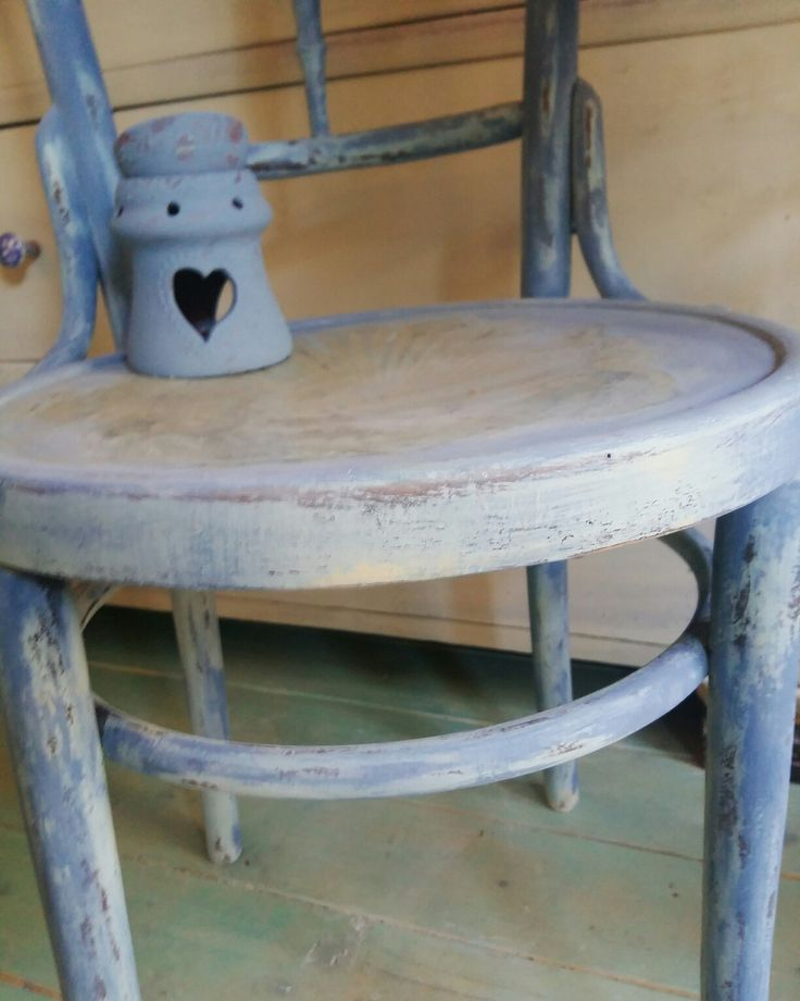 Annie Sloan Chalk Paint mix Greek Blue and Old White with Arles by Kaandalu Art&Craft
