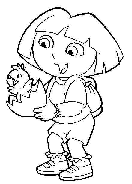 dora coloring valentine easter pages - photo#9