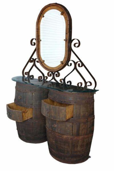 Furniture. Barrel furniture. Credenza two barrels