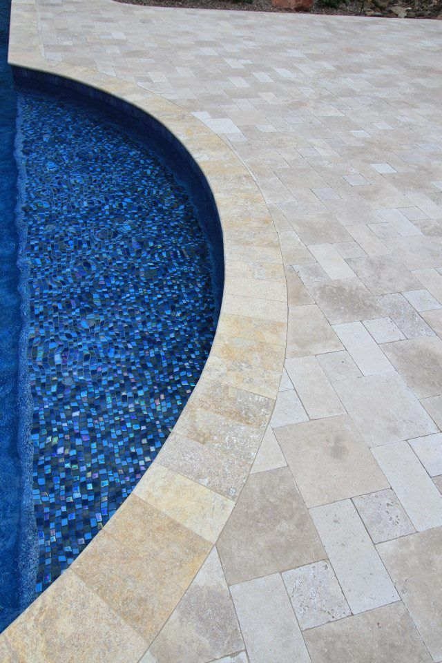 Jules Rustic Blue 1x1 Glass Tile Npt Home Pool Remodel