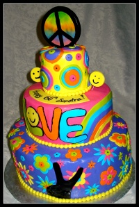 1000 Images About Hippie And Flower Power Cakes On