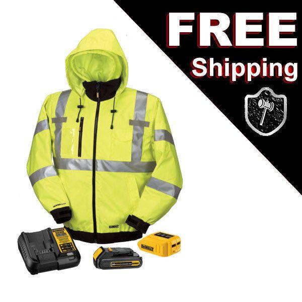 Ebay Sponsored New Dewalt 20v 12v Max Class Iii High Vis 3 In 1 Heated Jacket Kit Dchj070c1 M Heated Jacket Jackets Hooded Jacket