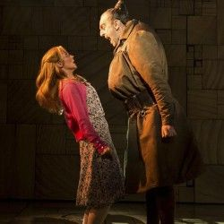 Miria Parvin as Miss Honey and Craige Els as Miss Trunchbull - Matilda The Musical