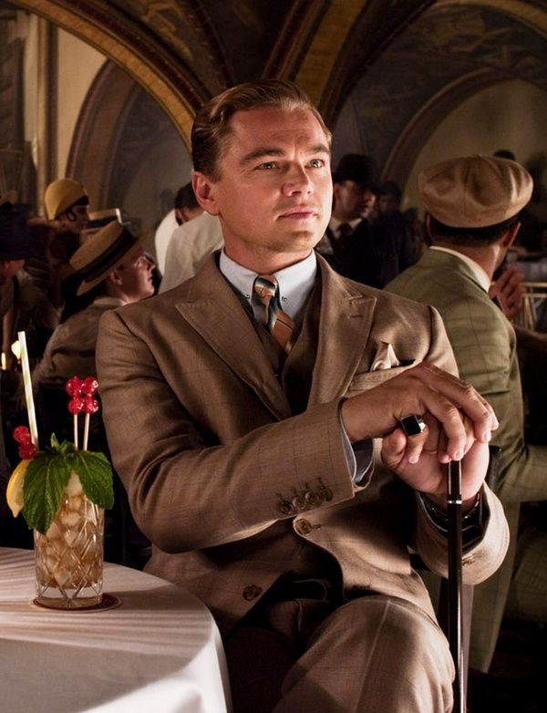 The Great Gatsby (2013) | Leonardo DiCaprio on the set of The Angry Diamond Club. Look at that cocktail!