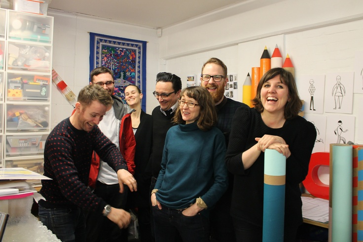 Here's a picture taken from our recent visit to Peepshow Collective. We had a brilliant time and a good laugh interviewing them!
