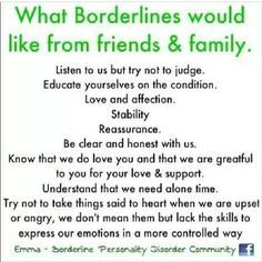 "I don't like how pins like this call us ""Borderlines.""  Separate the person from the diagnosis.  It's a part of me, but it's not who I am."