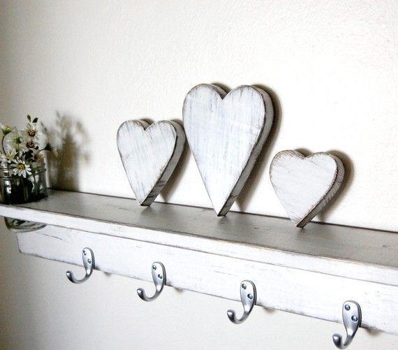 Shabby Chic hearts Wedding Nursery Cottage Decor by OldNewAgain, $26.00