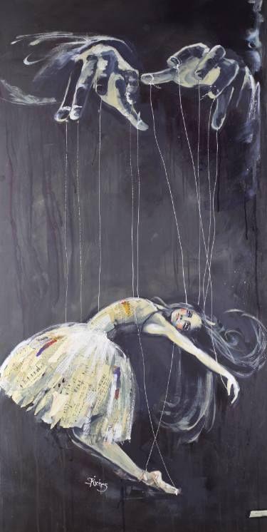 "Saatchi Art Artist Sara Riches; Painting, ""Hands of the Puppeteer (original SOLD)"" #art"