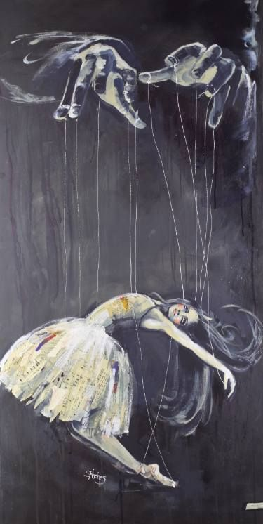 "Saatchi Art Artist Sara Riches; Painting, ""Hands of the Puppeteer (original SOLD)"" #art"