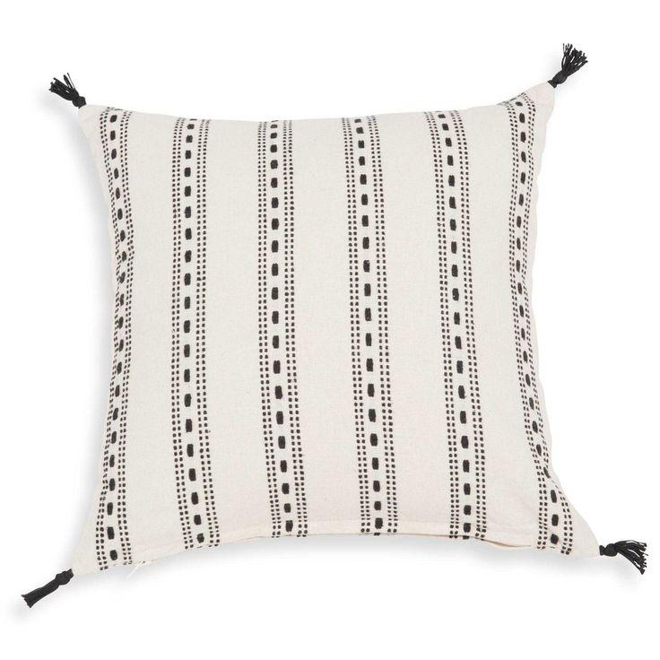 Fodera di cuscino bianca con motivi ...