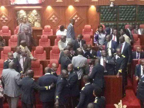 Kidero impeachment motion tabled despite fracas at Nairobi assembly - The Star Kenya