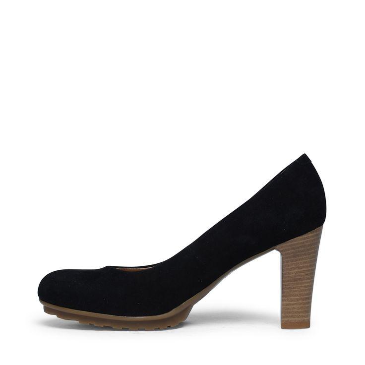 Zwarte suède pumps | Dames | MANFIELD