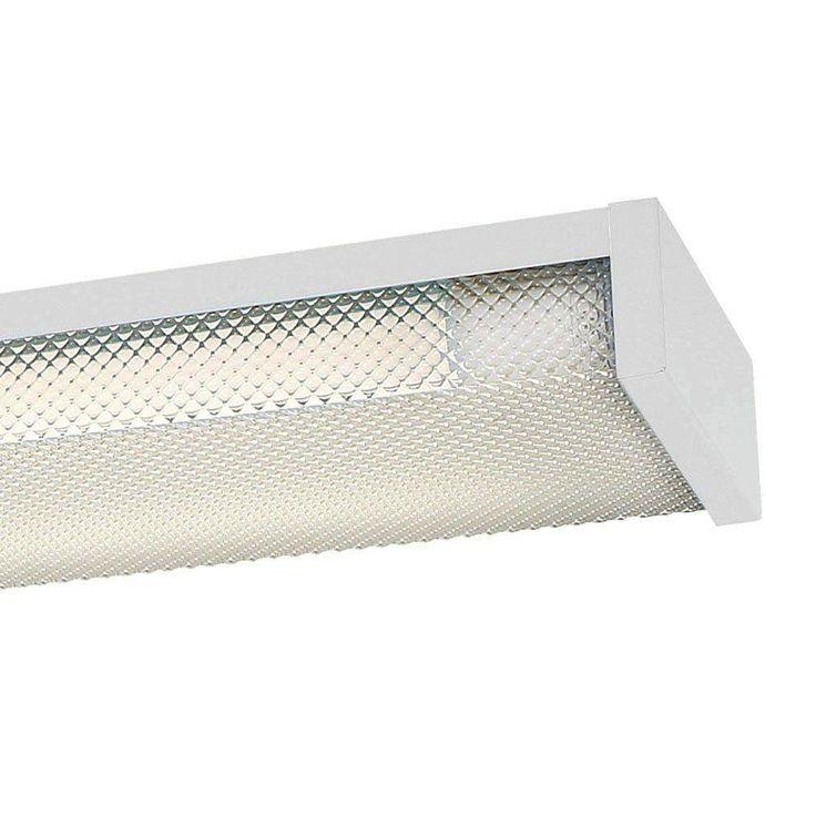 4 ft. x 5 in. W White LED Slim Flushmount MV Wraparound Light with Two T8 LED 4000K Tubes (12-Pack)