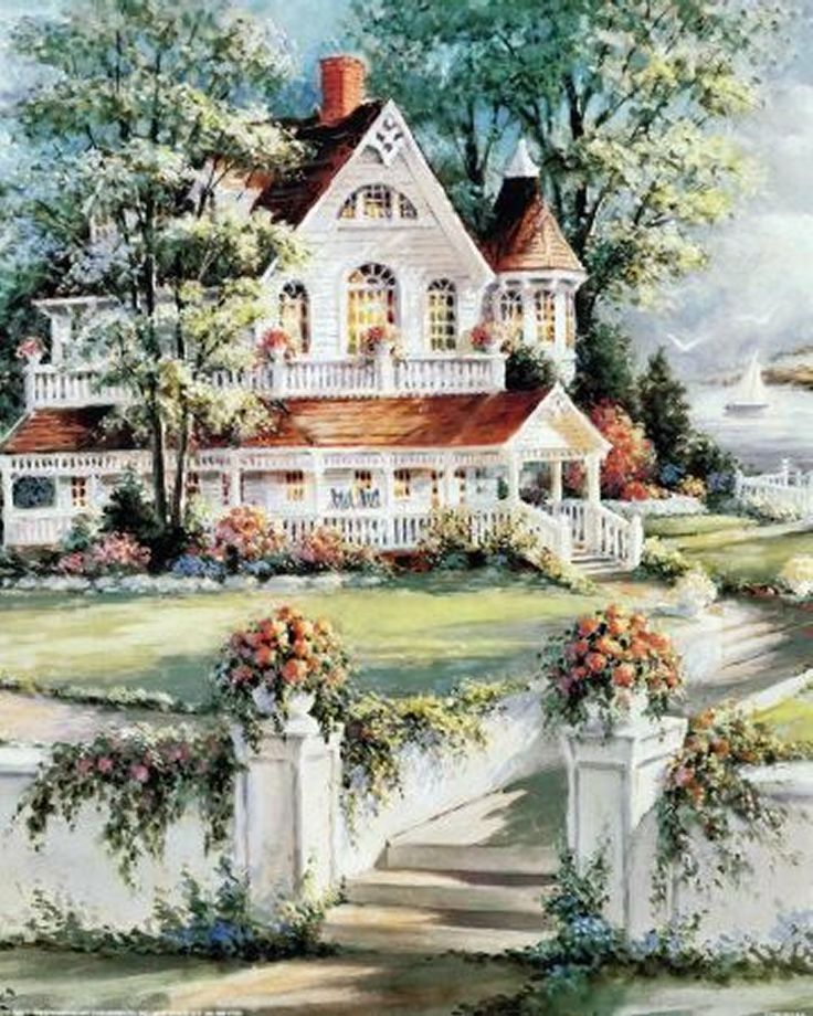 Christmas Decorations For Victorian Homes: 597 Best Homes In Paintings Images On Pinterest