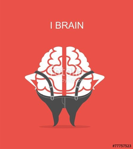 Wektor: business concept of brain