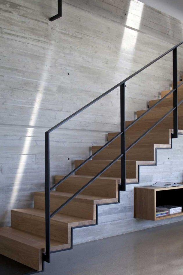 Escalera  Madera+Acero