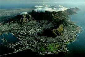 Image result for aerial photograph of cape town city bowl close