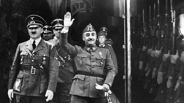 Francisco Franco y Adolf Hitler, durante su reunión en Hendaya en 1940