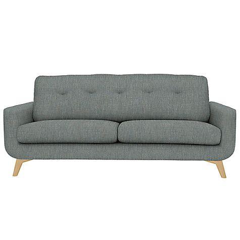Buy John Lewis Barbican Large Sofa, Aquaclean Blake Slate Online at johnlewis.com