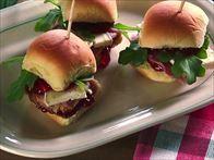 Honey Glazed Ham Sandwiches Recipe : Nancy Fuller : Food Network with strawberry jam, Brie cheese, arugula.