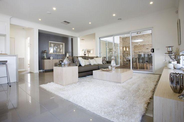 Living Room Tiles Strato light grey polished 300x600 grey grout - tile living room floors