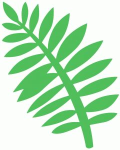 Silhouette Design Store - View Design #45387: palm branch
