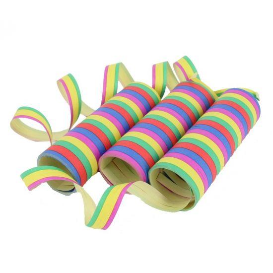 Hawaii feest? Koop Serpetine in de Hawaii feestwinkel, zoals 3 rollen gekleurde serpentine. Hawaii party feestartikelen, versiering en kleding.